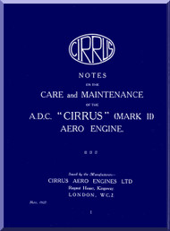 Cirrus A.D.C. Aircraft Engine Service Manual  ( English Language )