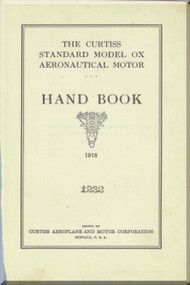 Curtiss Model OX   Aircraft Aero Engine Handbook Manual  ( English Language ) - 1928