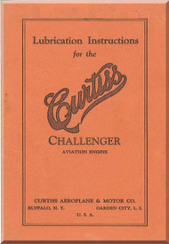 Curtiss R-600 Challenger   Aircraft Engine Lubrification Manual  ( English Language )