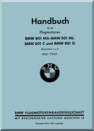 Bayerische Motorenwerke - BMW  Aircraft Engine Installation Handbook  Manual  ( German Language ) -