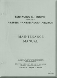 Bristol Centaurus 661   Aircraft Engine Maintenance Manual  ( English Language )