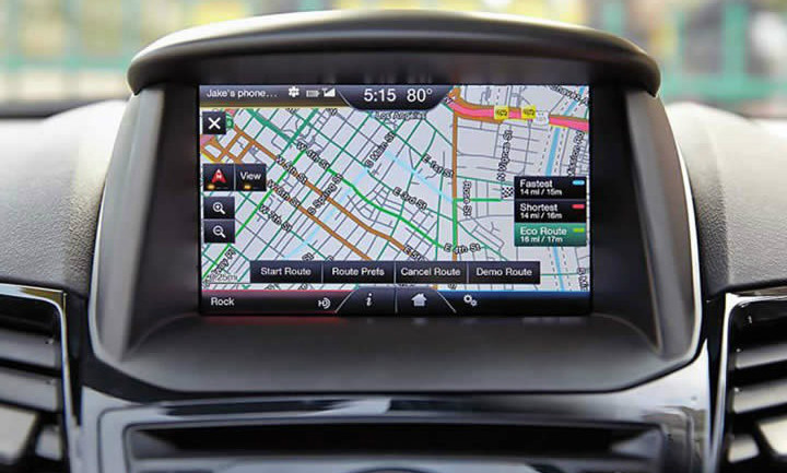 2014 2015 Ford Fiesta Navigation Kit for MyFord Touch Systems - Installed View
