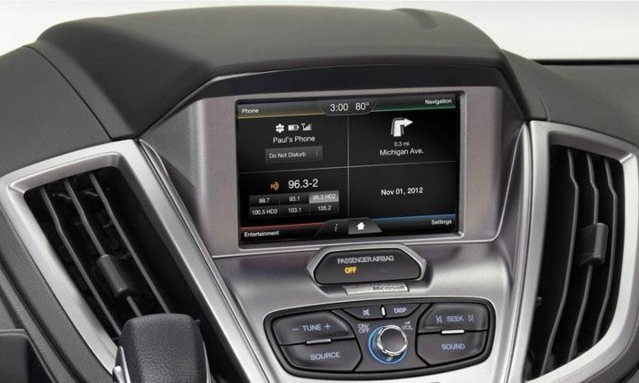 2015 Ford Transit Navigation Kit for MyFord Touch Systems - Installed View