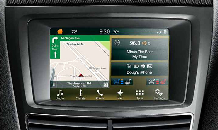 2017 2018 Lincoln MKT Navigation Kit for SYNC 3 - Installed View