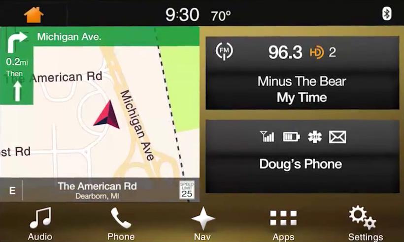 2017 2018 Lincoln Navigator Navigation Kit for SYNC 3 - Home Screen