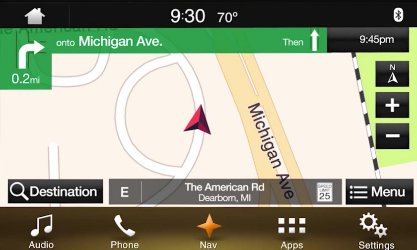 2017 2018 Lincoln Navigator Navigation Kit for SYNC 3 - Map Screen