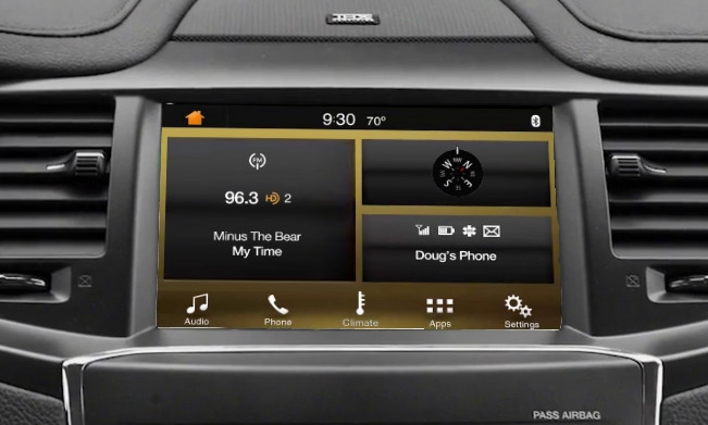 2013 | 2014 Lincoln MKS SYNC 3 Retrofit Kit for MyLincoln Touch Vehicles - Installed View