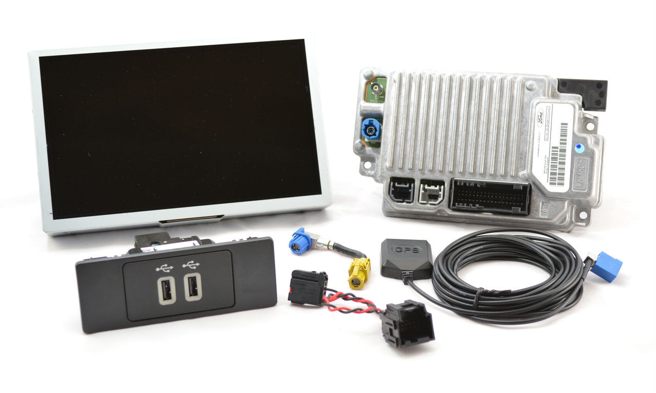2013 | 2014 Lincoln MKS SYNC 3 Retrofit Kit for MyLincoln Touch Vehicles - Kit Contents