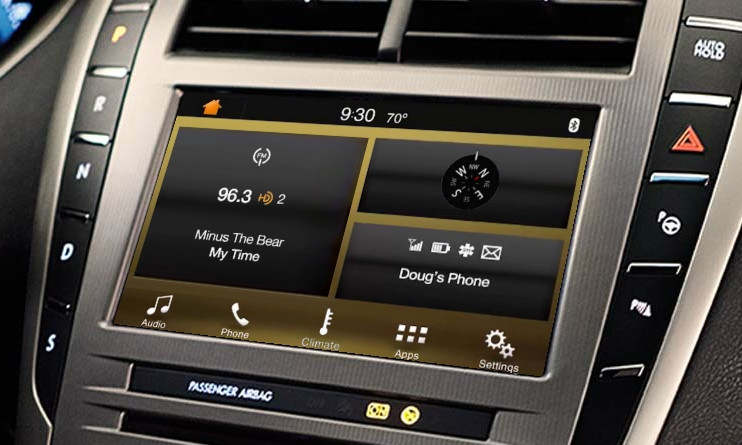 2013   2014   2015 Lincoln MKZ SYNC 3 Retrofit Kit for MyLincoln Touch Vehicles - Installed View
