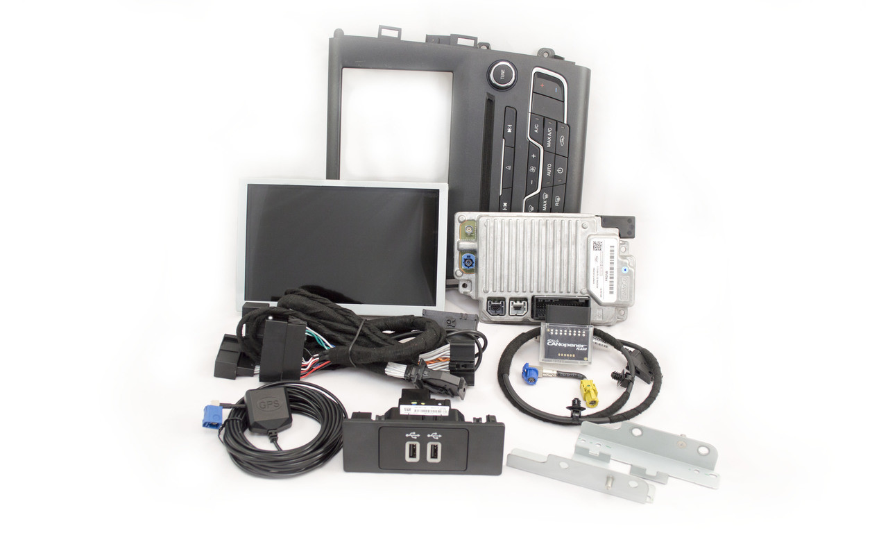 2013 | 2014 | 2015 | 2016 Ford Fusion SYNC 3 Retrofit Kit for MyFord Vehicles - Kit Contents
