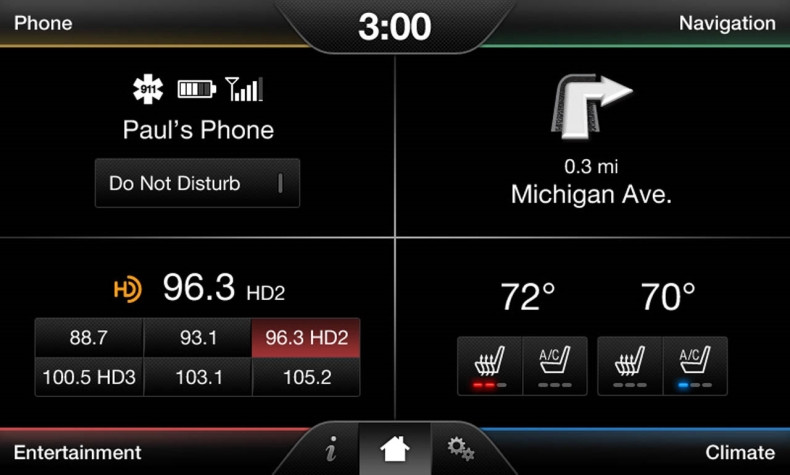 2015 Ford Mustang SYNC 2 Retrofit Kit for MyFord Vehicles - Home Screen