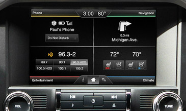 2015 Ford Mustang SYNC 2 Retrofit Kit for MyFord Vehicles - Installed View