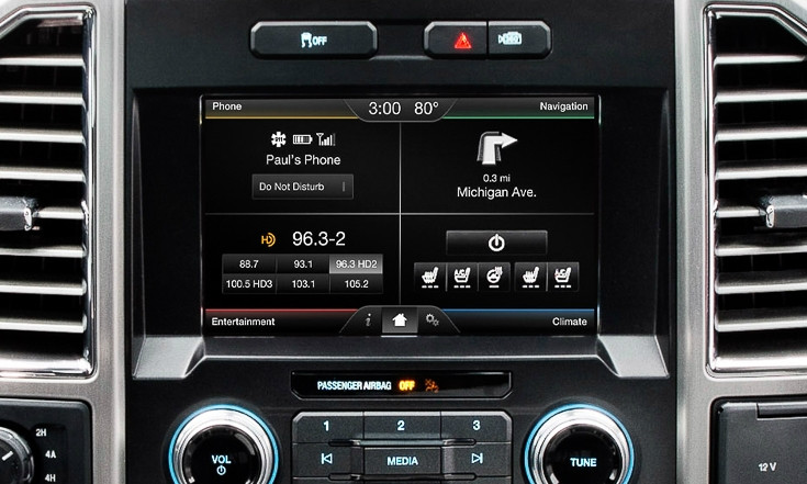 Ford F  Navigation Kit For Myford Touch Systems Installed View