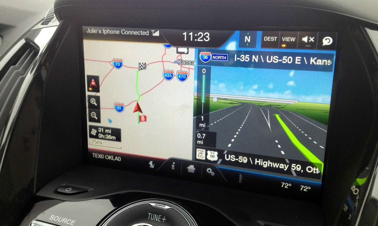 2013 2014 2015 Ford CMAX Navigation Kit for MyFord Touch Systems - Installed View