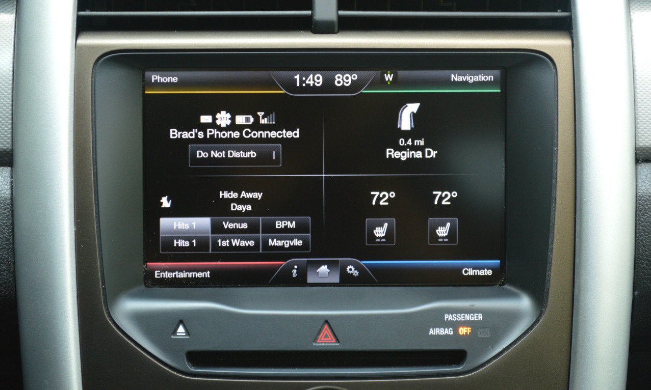 ... 2011 2012 2013 2014 2015 Ford Edge Navigation Kit for MyFord Touch  Systems - Installed View ...