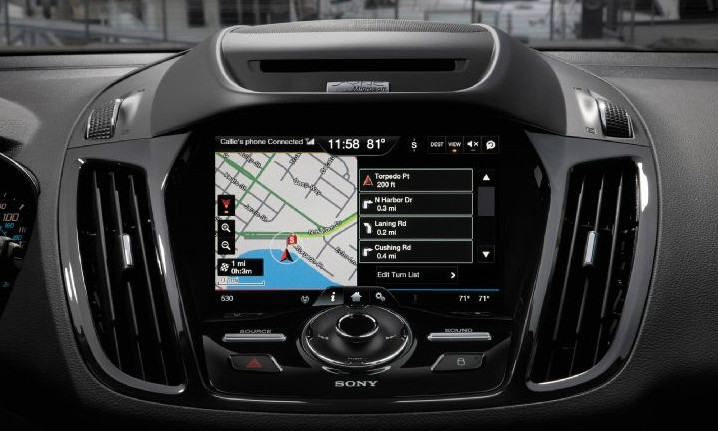 2013 2014 2015 Ford Escape Navigation Kit for MyFord Touch Systems - Installed View