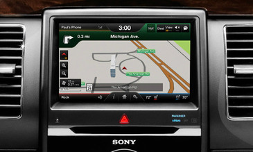 2013 2014 2015 Ford Flex Navigation Kit for MyFord Touch Systems - Installed View