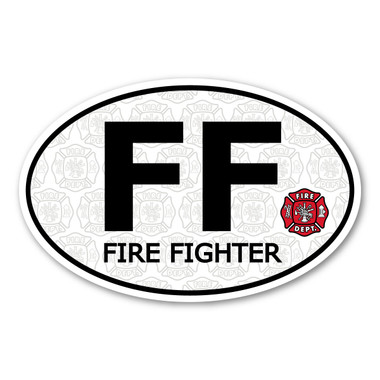 Firefighters, commonly known as a firemen, are not only trained in fire and rescue but first-aid, preservation of self and property, and prevention. Our Firefighter oval decal has the maltese, a symbol of bravery, loyalty and honor. Displaying our Firefighter decal is a great way to show your pride and dedication to saving lives.