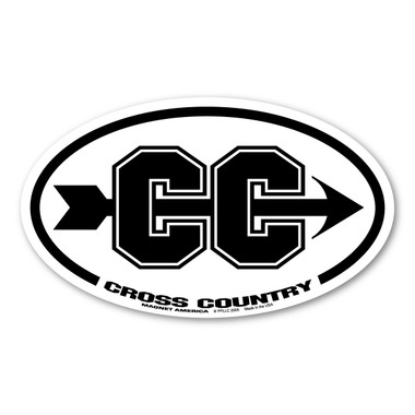 Cross Country running is a type of long-distance and road running on open-air courses. It became an official sport in 1876 and the first championships were held in 1903.  Our cross country magnet is a great way to show your hard work and determination to succeed in any type of terrain or weather!