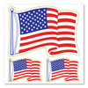 The United States Flag was first created in 1777, bearing 13 stars to represent the 13 colonies. The number of stars in the flag has changed many times as states were added between 1777 and 1960, when the flag came to be as it is today. This American Flag Waving Magnet is a great way to show that you are proud to be an American!