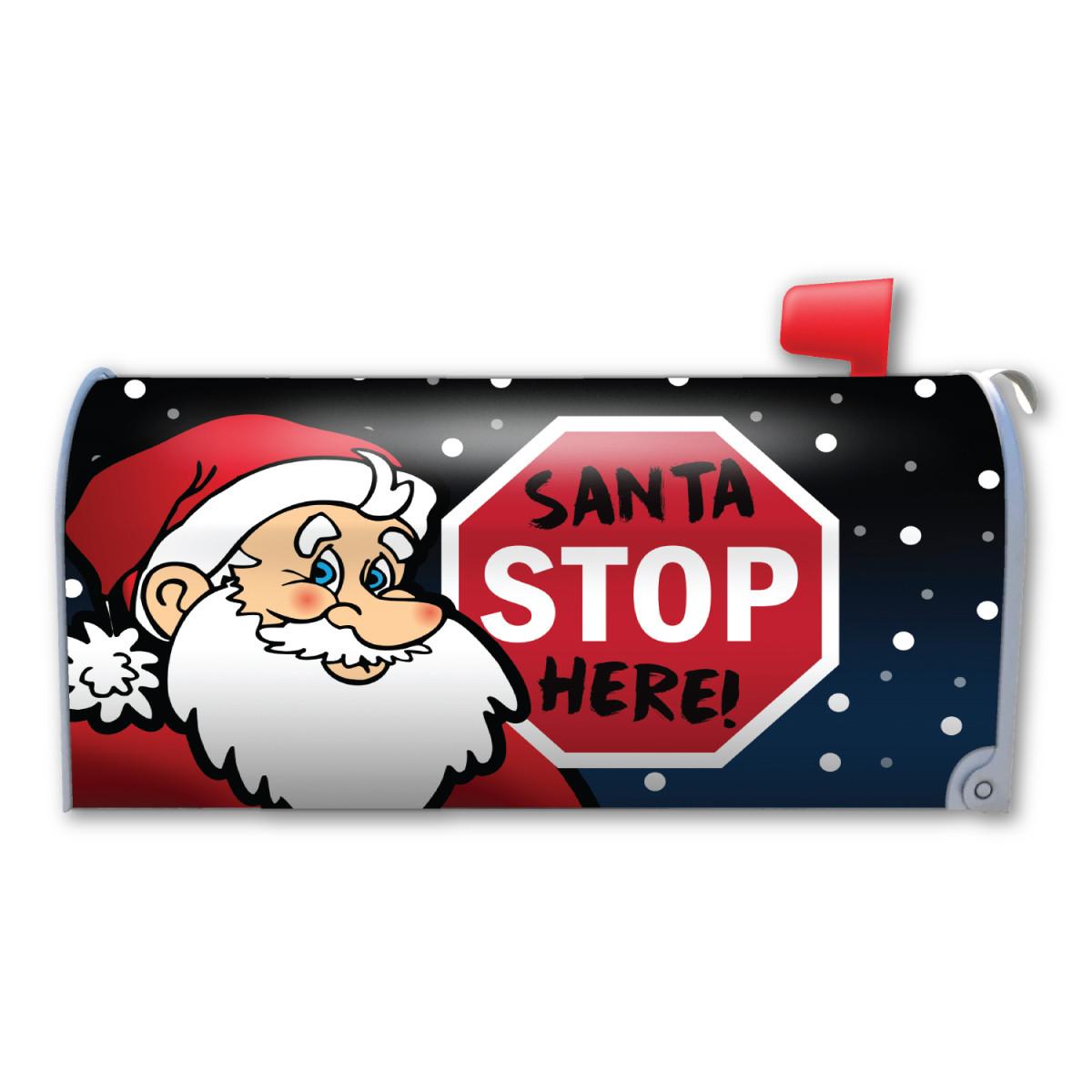 Santa Stop Here Mailbox Cover Magnet Magnet America