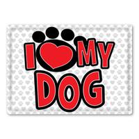I Love My Dog Rectangle Button