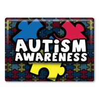 Autism Awareness Rectangle Button Magnet
