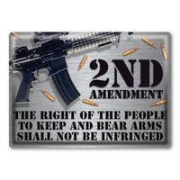 Right to Keep and Bear Arms Rectangle Button