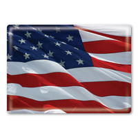 American Flag Rectangle Button