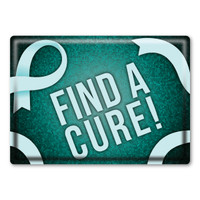 Cervical Cancer Find a Cure! Rectangle Button