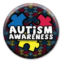 Autism Awareness Circle Button