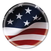 American Flag Circle Button