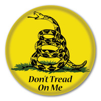 Don't Tread on Me Gadsden Circle Button
