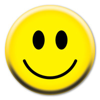 Smiley Face Circle Button