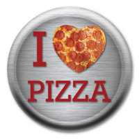 I Love Pizza Circle Button