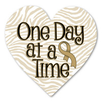 Childhood Cancer Awareness One Day at a Time Magnet