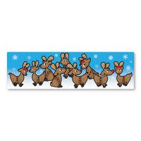 Reindeer Strip  Magnet