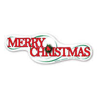 Merry Christmas Large Bumper Strip Magnet