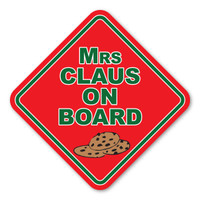 Mrs Claus on Board Diamond  Magnet