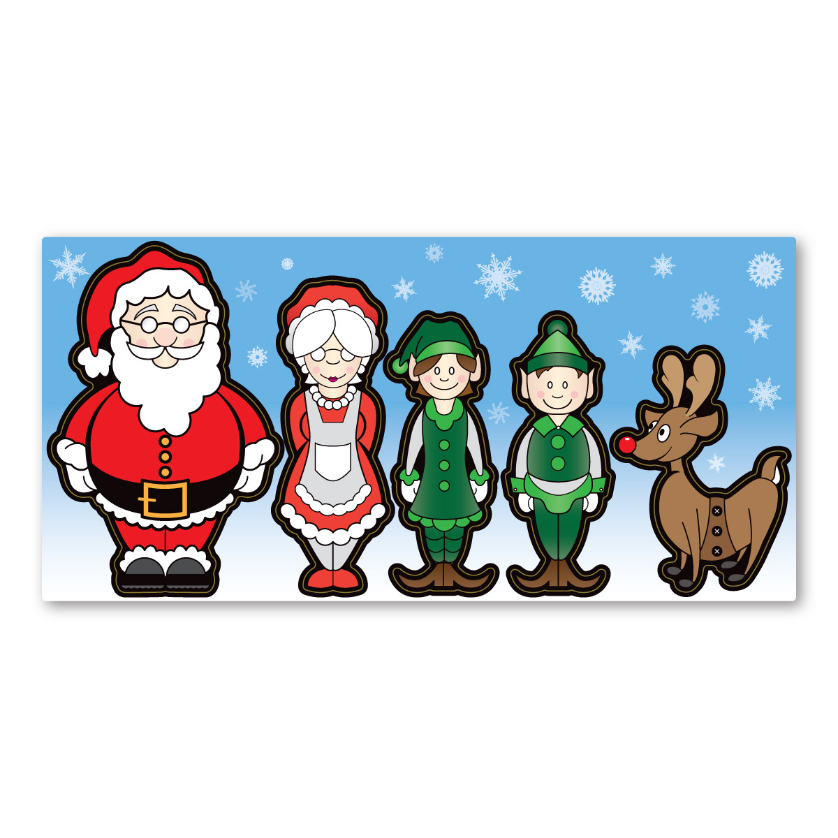 Santa Family Figures Pack Magnet Magnet America