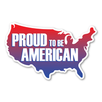 Proud to be American United States Shaped Mini Magnet