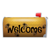 Bee Welcome Mailbox Cover Magnet