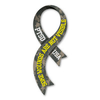 PTSD Curvy Military Ribbon Magnet