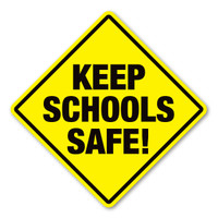 Keep Schools Safe Diamond Magnet