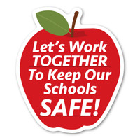 Keep Schools Safe Apple Magnet