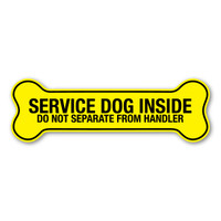 Service Dog Inside Yellow Bone Magnet