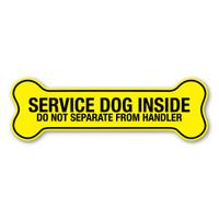 Service Dog Inside Yellow Bone Magnet