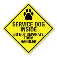 Service Dog Inside Diamond Magnet