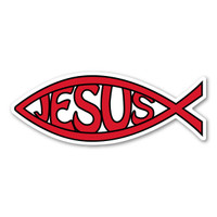 Mini Red Jesus Fish