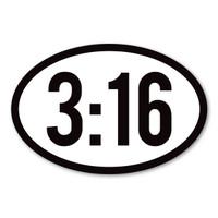 John 3:16 Oval Magnet